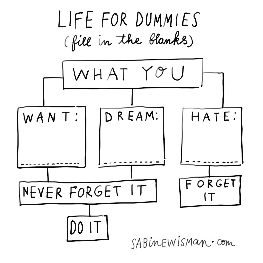 life for dummies infographic