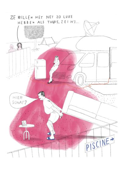 editorial illustration camping sabine wiseman